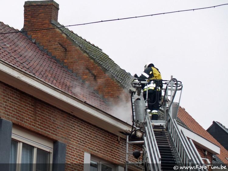 Woningbrand Kerkstraat Zelzate