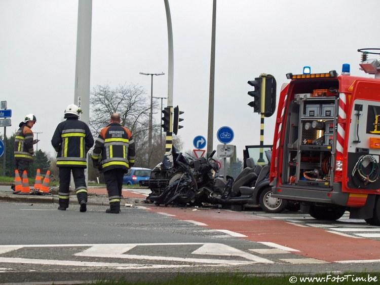Dodelijk ongeval R4 te Zelzate